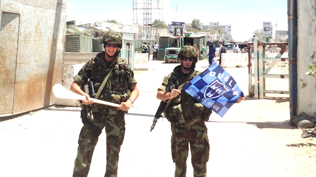 Irish Troops with EUTM Somalia